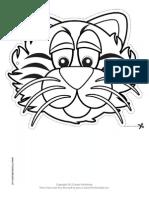 Tiger Outline Mask