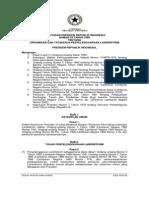 Keputusan Presiden Nomor 55 Tahun 1980 Tentang Organisasi dan Tata Kerja Penyelenggaraan Landreform