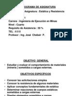 Prog-estatica y Resistencia de Materiales
