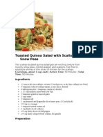 Toasted Quinoa Salad With Scallops