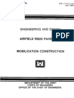EM 1110-3-142 - Airfield Rigid Pavement - Mobilization Construction -Web