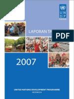 Laporan United Nations Development Programme (UNDP) Tahun 2007