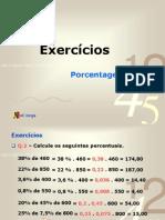 1 ANO - Exercícios Porcentagem - 2009