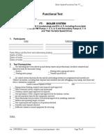 Boiler System Functional Test
