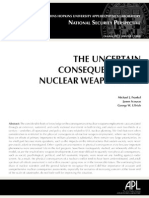 The Uncertain Consequences of Nuclear Weapons Use