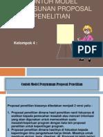 Contoh Model Penyusunan Proposal Penelitian