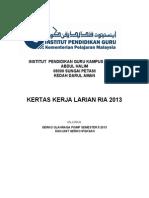 Kertas Kerja Merentas Desa 2011