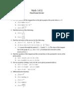 MATH 1432 (Cal II) Final Exam Review