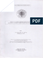 Pembuatan Model Numerik Angkutan Polutan Dan Model Optimasi Pengelolaan Kualitas Air Oki s, Hartana. Lap. Penelitian