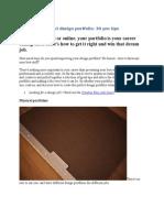 Create the Perfect Design Portfolio