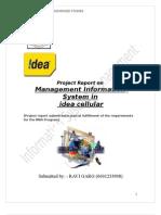 Information System Management of Idea Cellular Ltd.