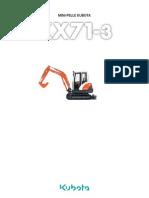 Miniexcavadora Kubota KX71 3 FR