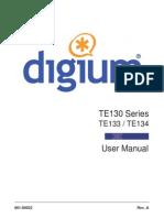 Manual de Usuario TE130 Series