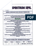 Uji Model Fisik Perubahan Tinggi Gelombang Akibat Efek Dasar Batu Pecah. Oki S. Jurnal Spectrum Sipil Unram Vol 1 no 1 Des 2005 ISSN 1858 - 4896