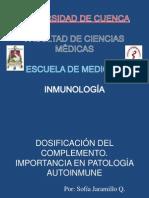 Dosificación del Sistema del Complemento y su Importancia en Patología Autoinmune