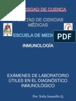 Exámenes de Laboratorio Útiles en el Diagnóstico Inmunológico