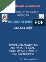 Inmunidad Adquirida Activa - Programa Ampliado de Inmunizaciones