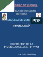 Valoración de la Inmunidad Celular in vivo