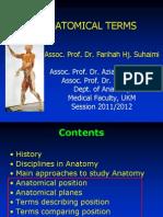 01 Anatomical Terms