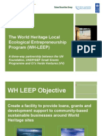 WH LEEP Project Briefing for Applications Sept 5 09