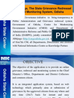 e-Abhijoga, The State Grievance Redressal And Monitoring System, Odisha