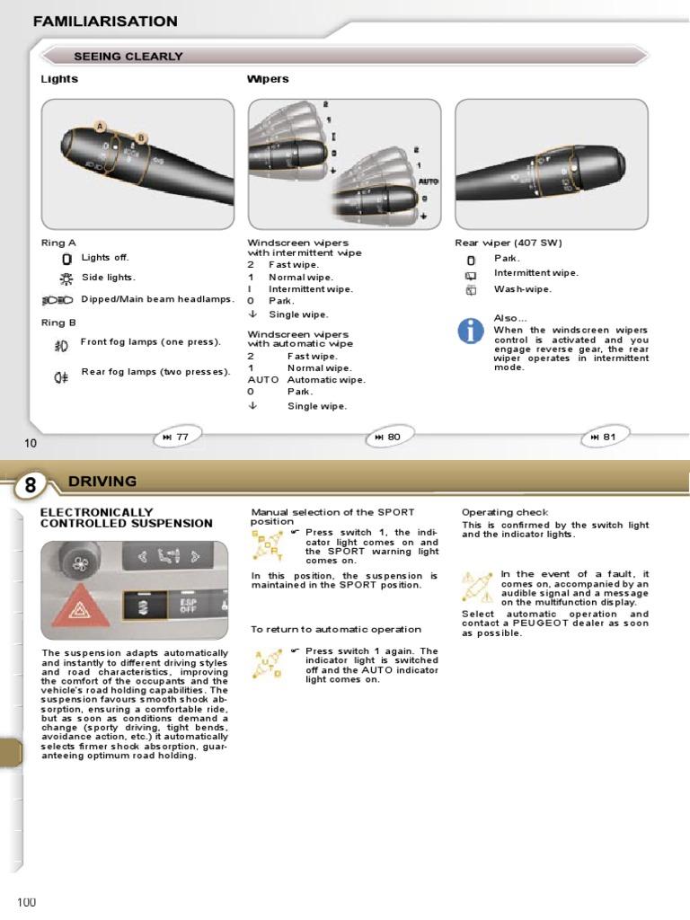 Peugeot 407 Owners Manual 2007