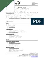 Programa Curs AutoCAD Si AutoCAD LT