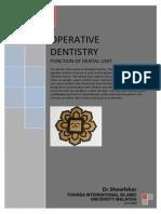 Function of Dental Unit