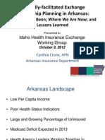 Arkansas PPT (Health Insurance Exchanges)