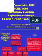 ICEL - Emergency Lighting Legislation and Design