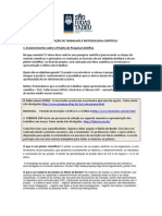 ORIENTAÇÃO DE TRABALHOS E METODOLOGIA CIENTÍFICA