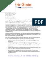 Letter to Bill de Blasio
