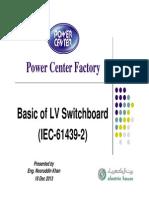 Basics of LV Switchboard-Presentation