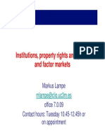Institutions Property Rights and Goods and Factor Markets