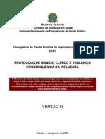 H1N1 - Protocolo de manejo clínico e vigilância epidemiológica da Influenza - Atualizado 050809