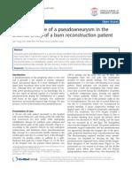 Delayed Rupture of Pseudoaneurysm in Brachial Artery of a Burn Reconstruction Patien