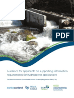 Guidance for Hydropower Applications