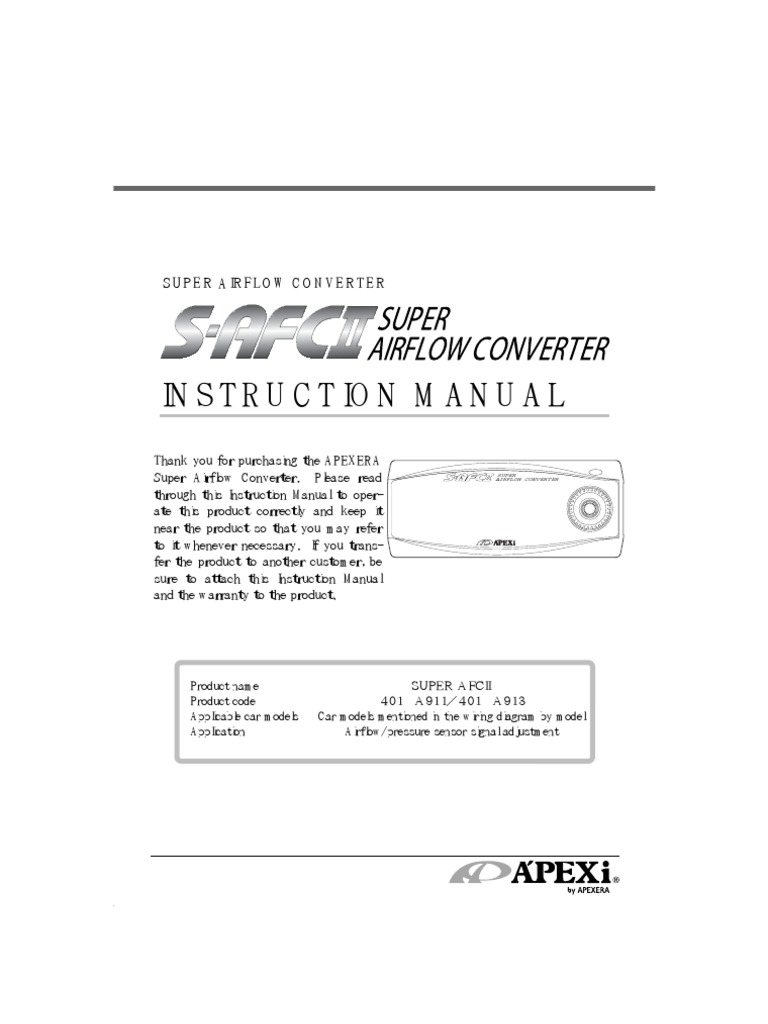 Apexi Rsm Wiring Diagram Library Safc 2jz Ge Installation Instruction Manual S Afc 2 Throttle Switch