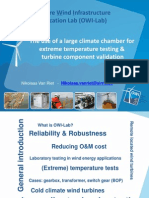 The Use of a Large Climate Chamber for Extreme Temperature Testing & Turbine Component Validation