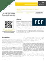 Interdiciplinary intergrative skills and acute myeloid leukaemia research