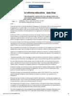 El Universal - - SNTE avalará la reforma educativa_ Juan Díaz