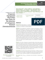 Evaluation of Meropenem, Imipenem and Ertapenem Impregnated MacConkey Agar Plates for the Detection of Carbapenem Resistant Enterobacteriaceae