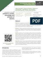 Prescribing Antibiotics for pediatric dental patients in Jordan; knowledge and attitudes of dentists