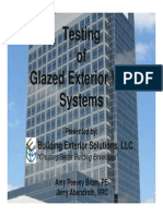 Water Testing for Glazing