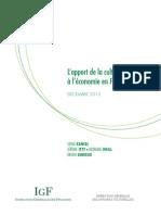 l Apport de La Culture a l Economie en France Synthese