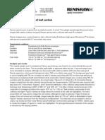 Sample Analysis - Raman Spectroscopy of Leaf Section