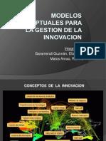 Trabajo - Modelos conceptuales - innovación