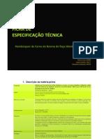 Ficha de Especificação Técnica - Hambúrguer de Carne de Bovino de Raça Alentejana