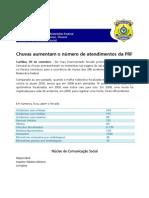 twitter - Chuvas aumentam o número de atendimentos da PRF