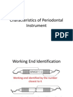 Characteristics of Periodontal Instrument